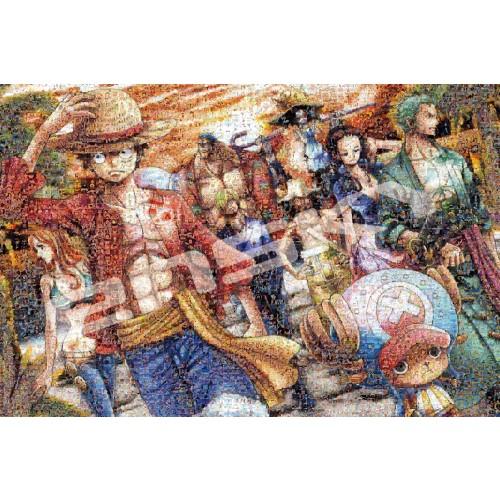 ワンピース ジグソーパズル1000ピース ワンピースモザイクアート【上陸】1000-586