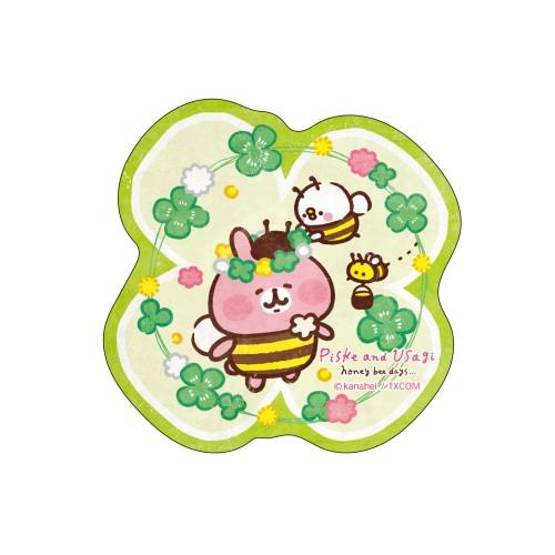 カナヘイの小動物 トラベルステッカー / ピスケとうさぎのみつばちデイズ(4)