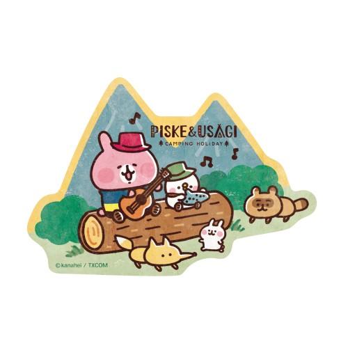 カナヘイの小動物 トラベルステッカー / ピスケとうさぎのキャンピングホリデイ(3)