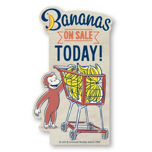 おさるのジョージ トラベルステッカー /(2)Banana