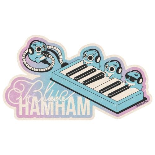 ブルーハムハム トラベルステッカー /(2)Tiny Pianists