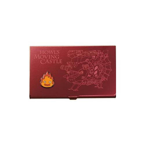 ハウルの動く城 メタルカードケース / ワインレッド(カルシファー)