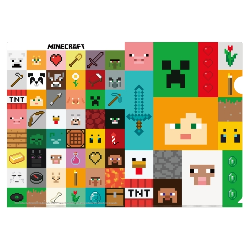 MINECRAFT マインクラフト A4クリアファイル /(D)